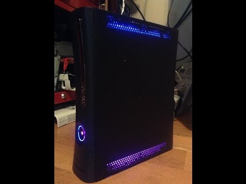 Custom Xbox 360 Elite Console Only w/30 Day Warranty, Free Customs (Rainbow LED's) Sharky's Customs