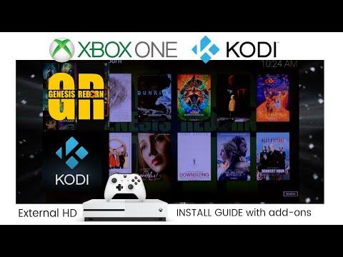 KODI on XBOX! Setup with GREAT add-ons & External Storage Tutorial