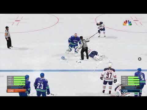NHL 18 How to Make the Goalies Fight