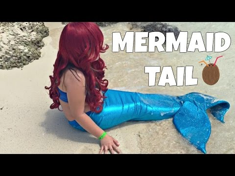 DIY HOW TO MAKE A MERMAID TAIL FIN FOR UNDER $25 VERY EASY,  SWIMMABLE AND WALKABLE