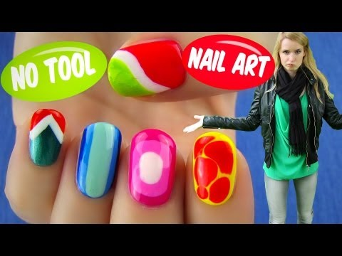 No Tool Nail Art! 5 Nail Art Designs & Ideas Without Any Nail Art Tools
