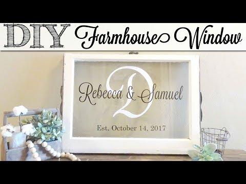 DIY Farmhouse Window | Tips For Adding Vinyl to Glass