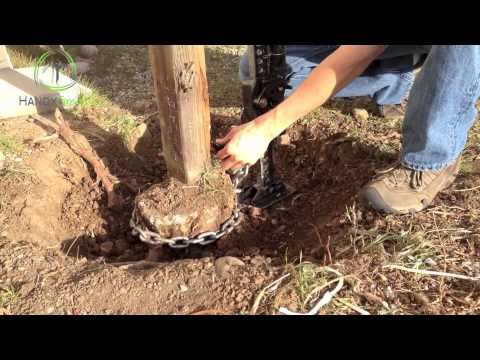 How to remove a fence post