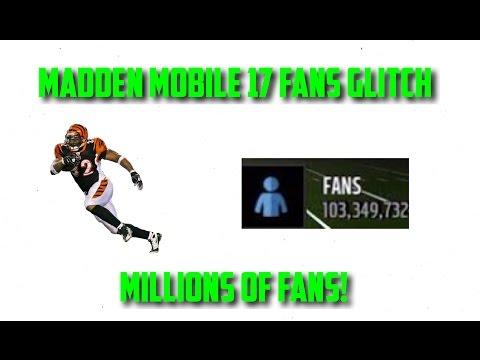 Madden Mobile 17 Fans Glitch