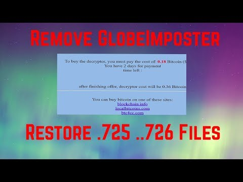 How to Remove .725 .726 Ransomware Restore Files