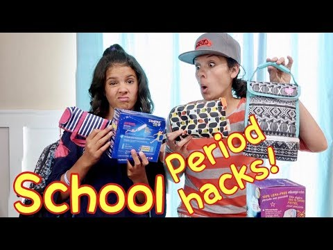 BACK TO SCHOOL PERIOD KITS! | 15 Hacks for What to do at School