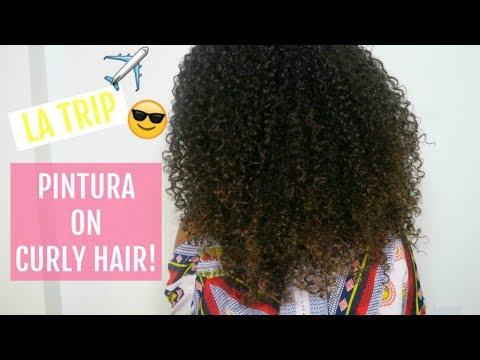 Pintura On Curly Hair at 'Curls One On One' DevaCurl LA!
