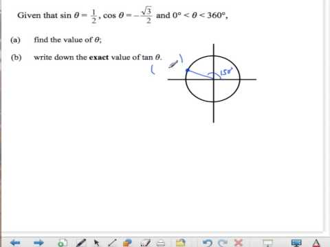 IB Find exact Value (degrees)