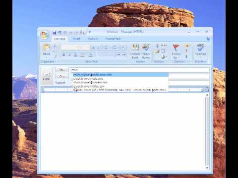 How2 delete bad email addresses in Outlook