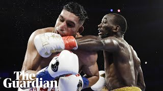 'You didn't quit?': Terence Crawford and Amir Khan clash over low blow in welterweight fight