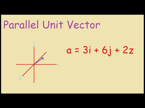 How to find a parallel unit vector example