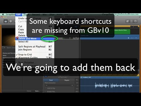 GBv10: Restore Keyboard Shortcuts - MinuteGarageBand