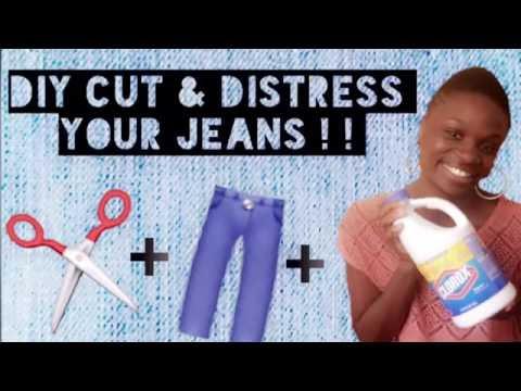 D.I.Y CUT UP ✂️ & DISTRESS Jeans into Fashionable, Goregous  shorts