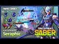 Saber with 5897 Match, Annoying Mid Lane! Seraphic Top 1 Global Saber ~ Mobile Legends