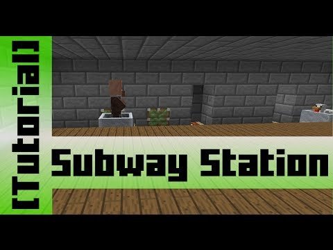 Subway Minecart Station [Tutorial]