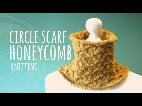 Tutorial Honeycomb Circle Scarf