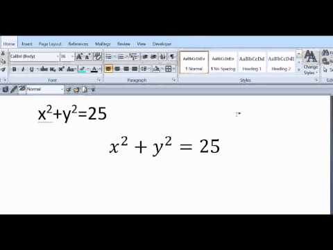 Type Math Equations using MS Word...