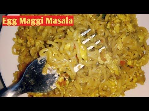 Egg Maggi Masala Recipe in Hindi   Street Style Egg Maggi Masala   Anda Maggi by poojarani