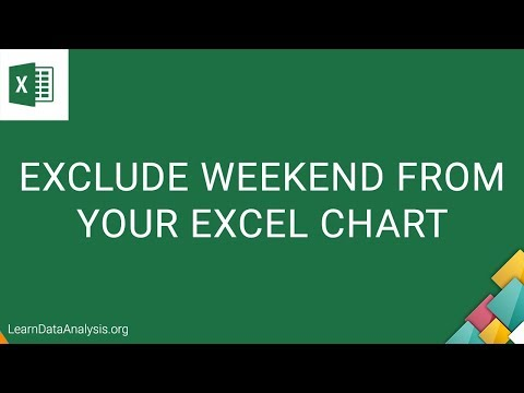 How to exclude weekends on your Excel Chart | Excel Tutorial