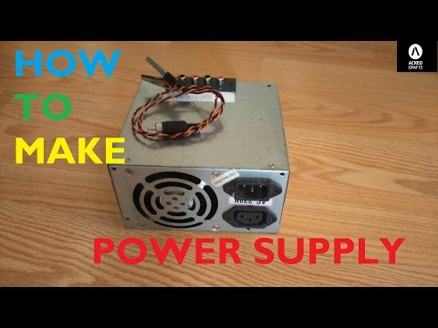 HOW TO MAKE POWER SUPPLY FROM OLD PC POWER SUPPLY