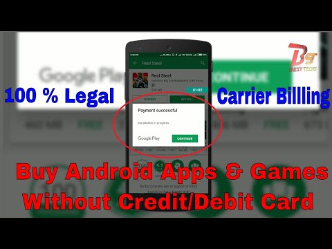 Install Paid Apps From Google Playstore Without Credit/Debit Card| Purchase app with Carrier Billing