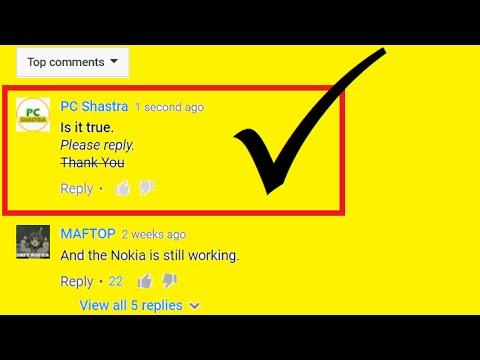 Make YouTube Comments Bold, Italic & Strikethrough