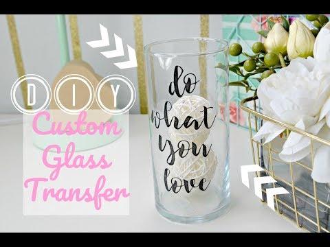 Dollar Tree DIY: Custom Glass Labels (Office/Room Decor Tape Transfer!)