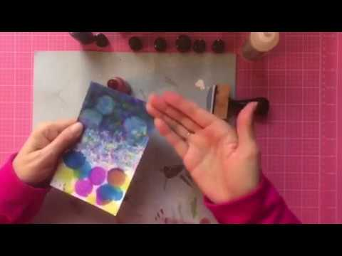 How To Use Alcohol Ink on Metal and Glossy Paper - An Easy Tutorial