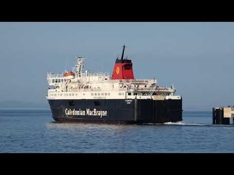 Calmac Ferry departs Brodick Terminal Isle of Arran Ayrshire Scotland UK