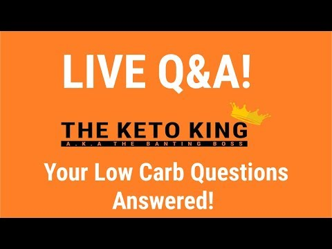 Your low carb questions answered! Live Q&A with the Keto King: Ep2