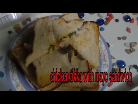 Chicken Tikka with Mayo Sandwich