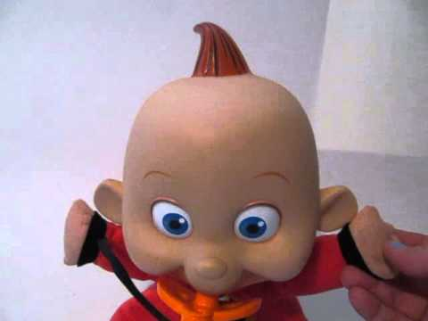 The Incredibles Talking Jack Jack Plush Doll Cries Laughs 12