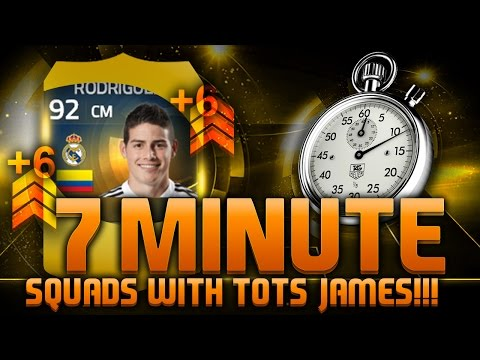FIFA 15 - 7 MINUTE SQUADS!!! TEAM OF THE SEASON JAMES RODRIGUEZ!!! Fifa 15 Hybrid Squad Builder