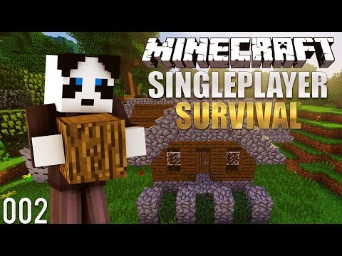 Minecraft Survival Lets Play: Ep. 2 - Building A Survival Starter House