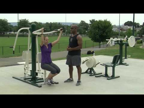 New to Fairgrounds Park - Outdoor Fitness Equipment Workout