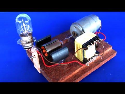 Free energy 100% generator with DC motor - work 100%