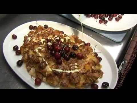Stone fruit bread pudding