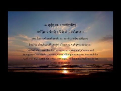 Learn the Gayatri Mantra: Word by word