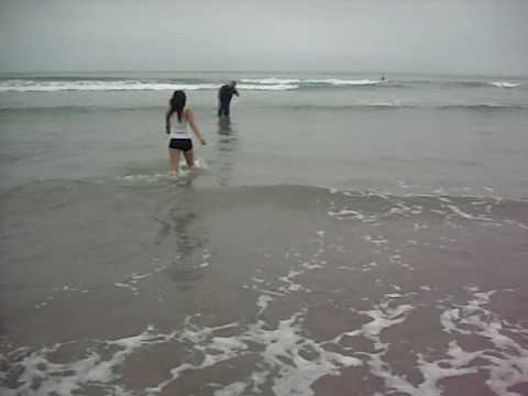 Getting Baptised at Mission Beach 09