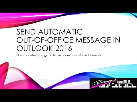 How to Set Up Automatic Reply in Microsoft Outlook 2016