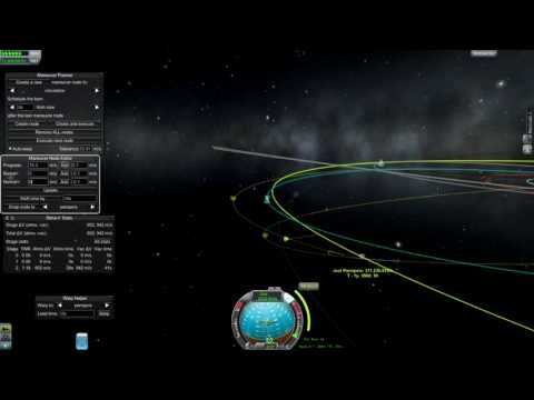 Kerbal Space Program - Using Gravity Assists To Save Fuel