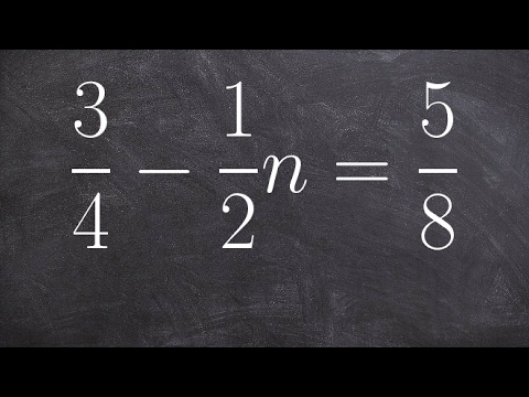 How to solve an equation with fractions of a two step equation