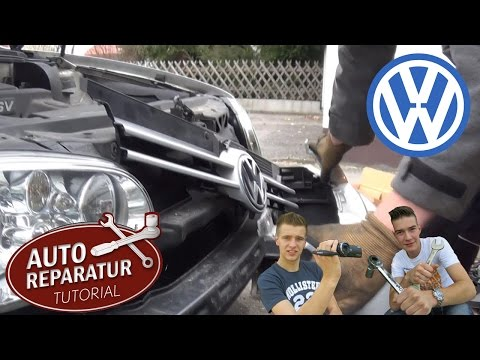 STOßSTANGE VW Golf 4 IV FRONT demontage abbauen vorne [Tutorial] HD bumper removement