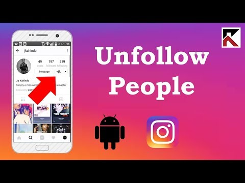How To Unfollow Someone Instagram Android 2018