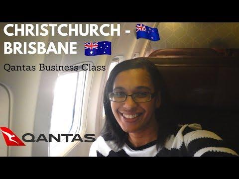 Christchurch to Brisbane business class QF134