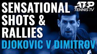 Sensational Shots & Rallies from Djokovic vs Dimitrov | Paris 2019
