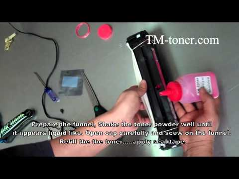 How to refill HP LaserJet Pro 200 color M251nw, M275nw M276n M276nw