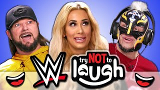 WWE Superstars Try To Watch This Without Laughing Or Grinning