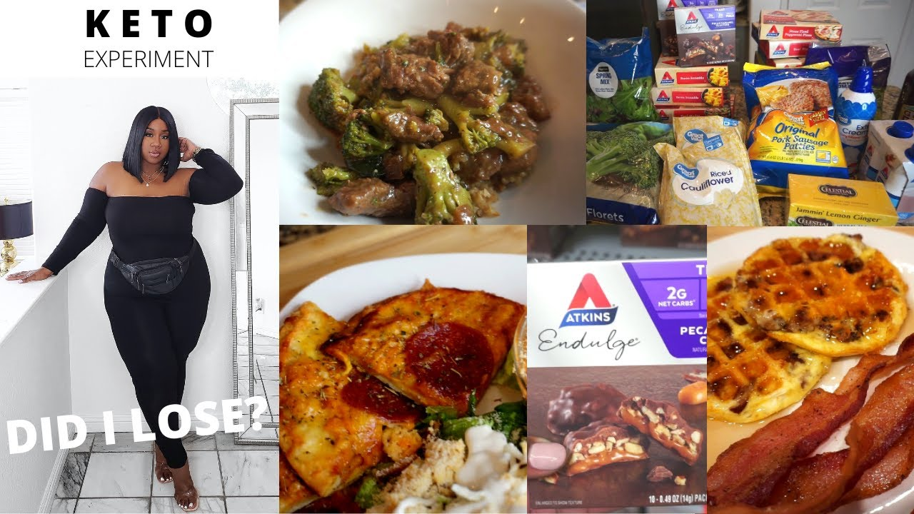 EATING ATKINS FROZEN MEALS EVERYDAY FOR A WEEK! DID I LOSE?   KETO FASHO