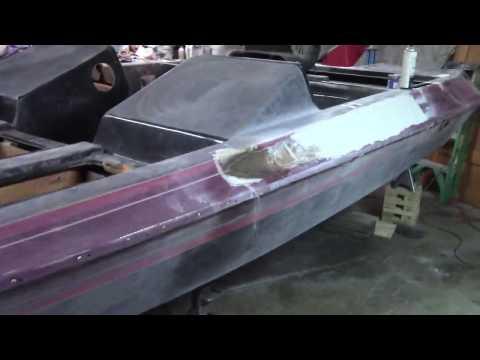 how to fix cracks in fiberglass boat restoration